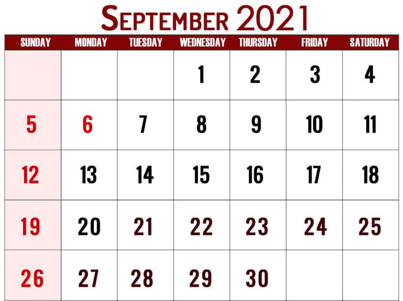 September USA Holidays Calendar