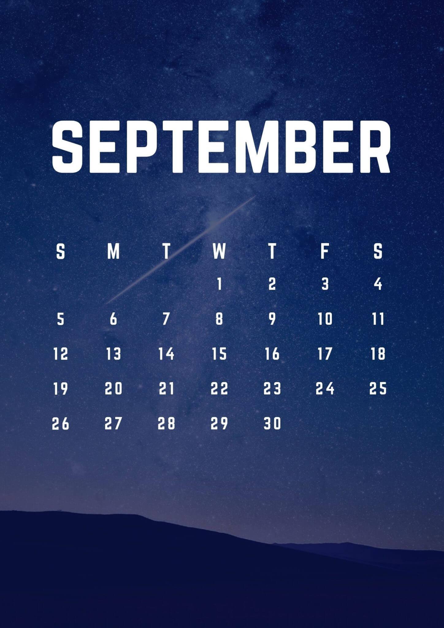 iPhone Calendar Wallpaper September 2021