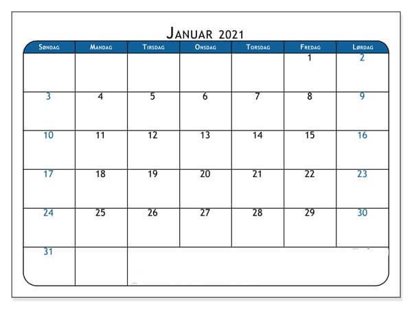 januar 2021 kalenderblatt